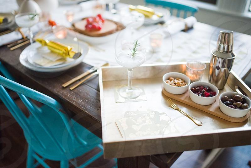 kitchen dining set dinner party utensils photo