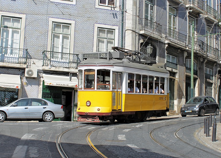 Portugal Lisbon summer architecture historic tram photo