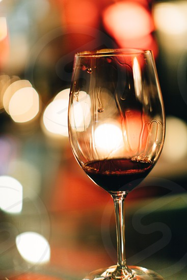 Red wine in a glass photo