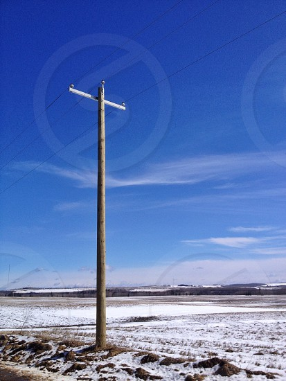 Prairie power lines  photo