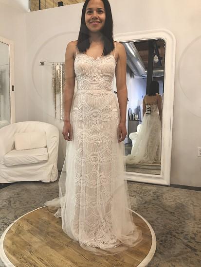 Wedding day details wedding dress wedding dress shopping  photo