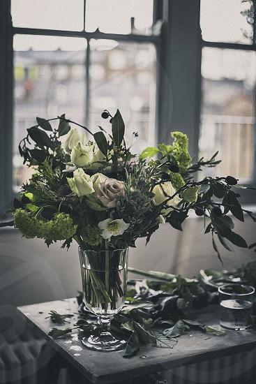 Rustic floral arrangement photo