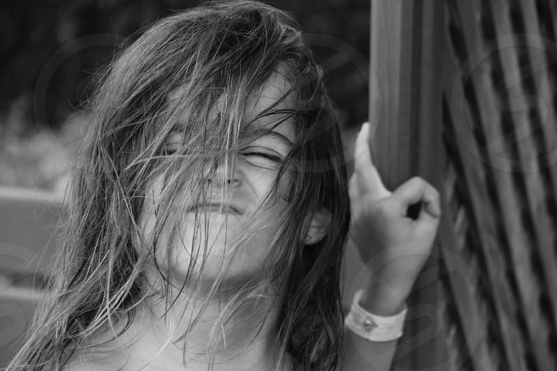 girl making face photo