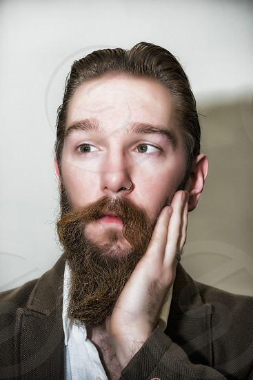 man with a brown beard photo