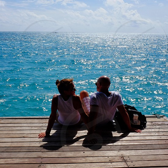 Lovers in Maldives photo