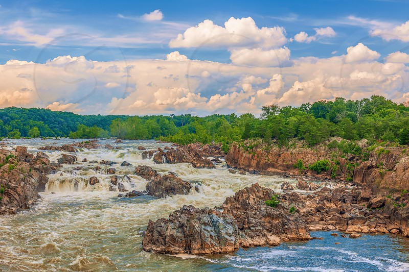 View of the Great Falls of the Potomac River. Virginia. USA  photo