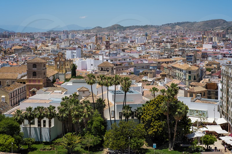 View from the Alcazaba Fort and Palace in Malaga photo