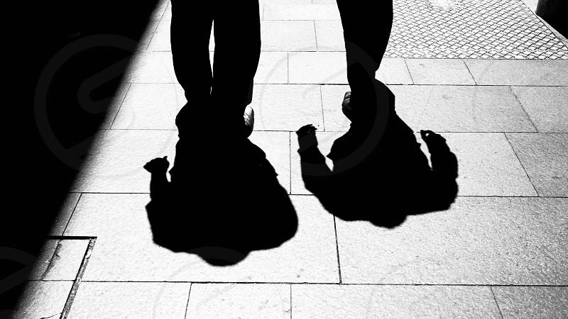 men's silhouette photo