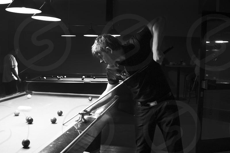 pool billiard pro profession dream game man activity fun concentration monochrome photo