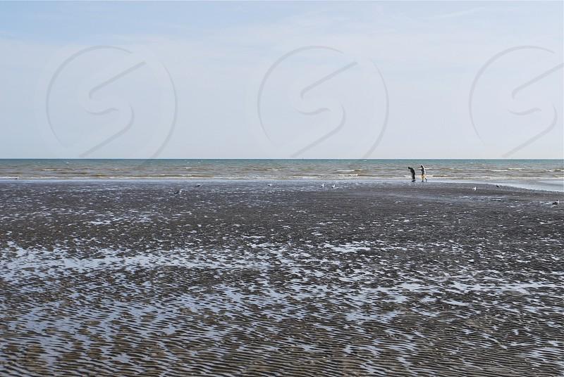 Coastal Scene with Couple photo
