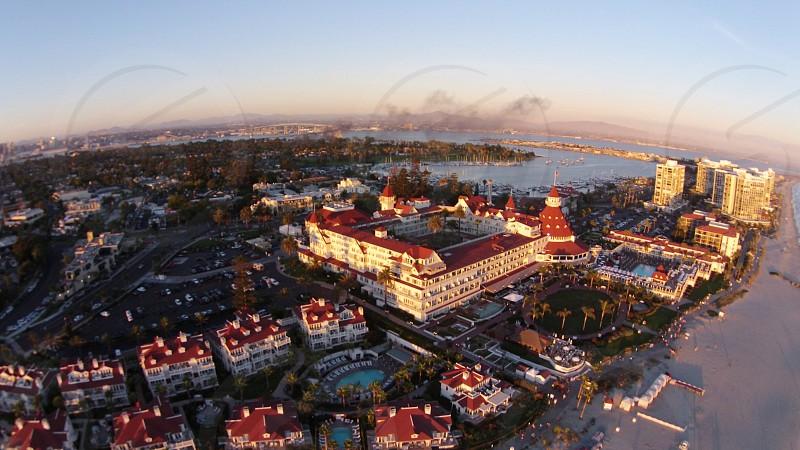 Drone shot of Hotel Del Coronado photo