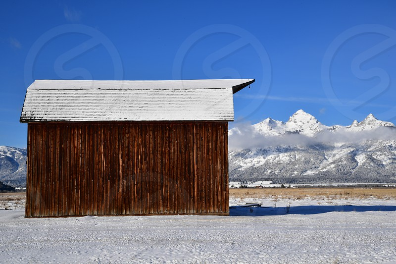 Old cabins and barns photo
