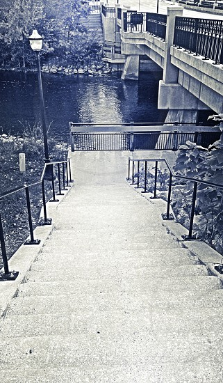going down stairs photo