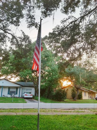 Flag sunset photo