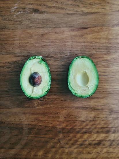 That moment when you slice open an avocado and it's perfect absolutely perfect. photo