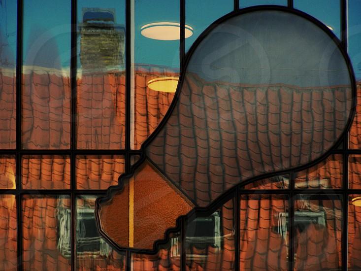 Copenhagen Denmark Lightbulb Window photo