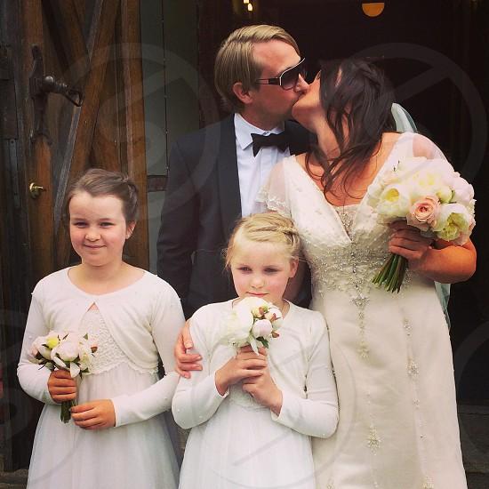 Wedding at Sagene Church in Oslo 26 of june 2014 photo