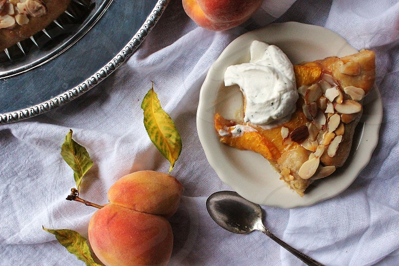 Peach & Almond Galette with Fresh Basil Whipped Cream photo