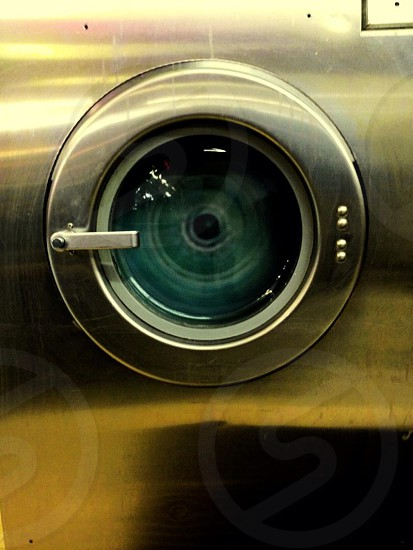 Laundry spin.  Laundromat photo