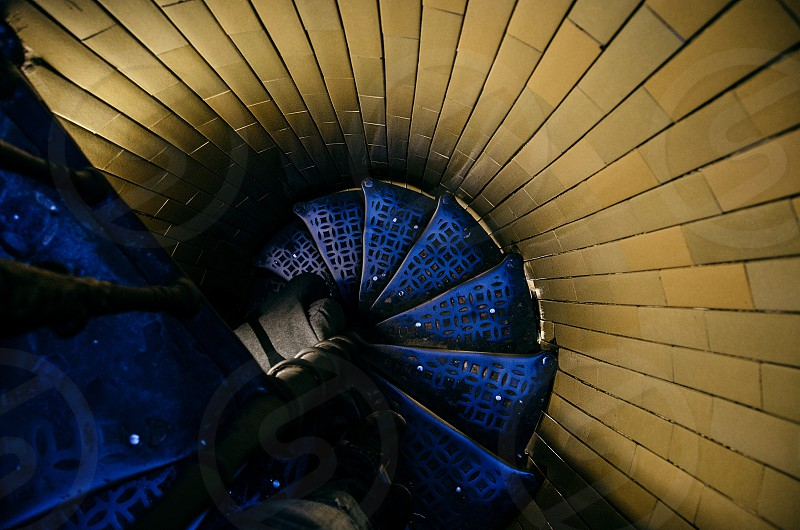Spiral staircase inside the Vatican. photo