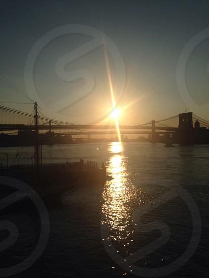 Brooklyn bridge and Manhattan bridge photo