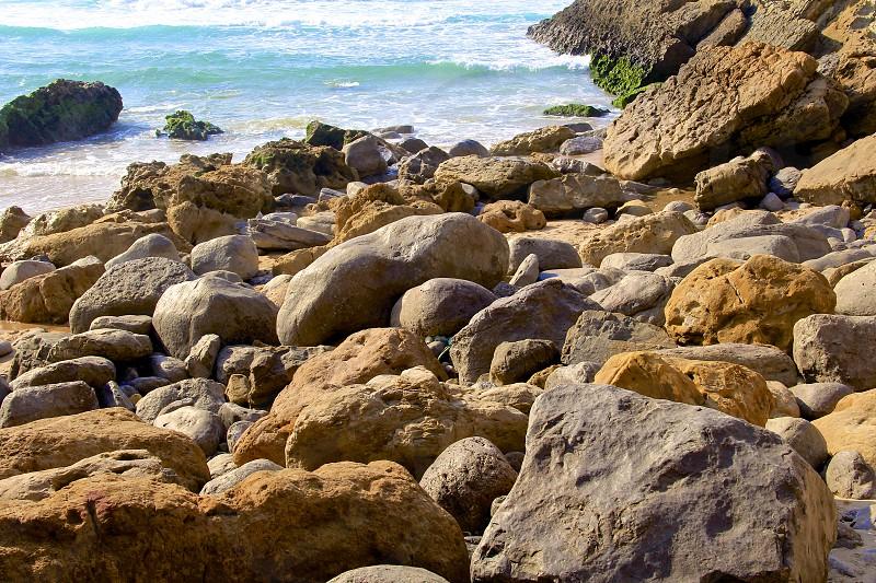 Guincho on the rocks.  photo