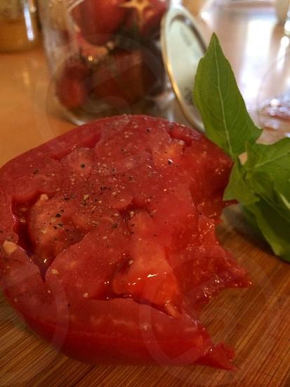 red slice tomato photo