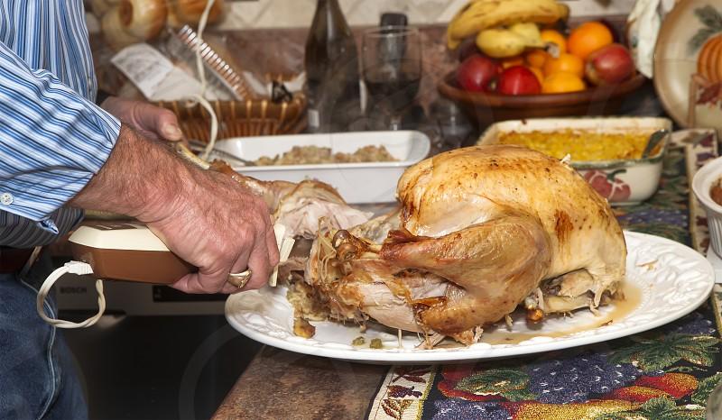 Thanksgiving - Turkey Cutting photo
