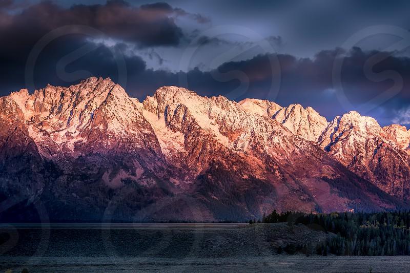Sunrise at the Grand Tetons photo