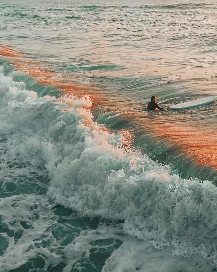 Golden hour  #waves #outdoors #nature #sunset #surf #surfers #art #travel #sea #ocean #water  photo