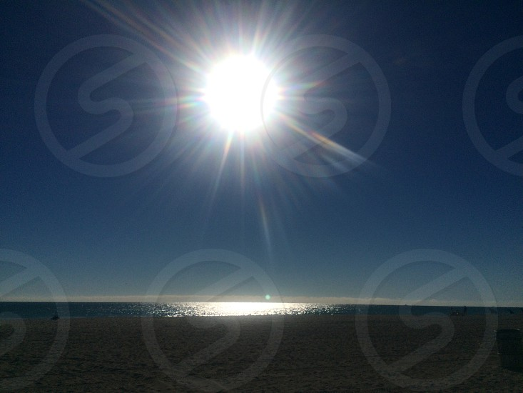 Southbeach beach ocean water sky blue sun hot Miami shining sand swim  skies swimming sunlight sunkiss warm beautiful calm peace peaceful ASecondChanceAround  photo