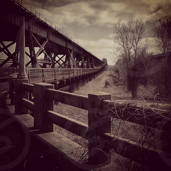 railroad stonework black and white trains history mississippi river Memphis West Memphis ironworks photo