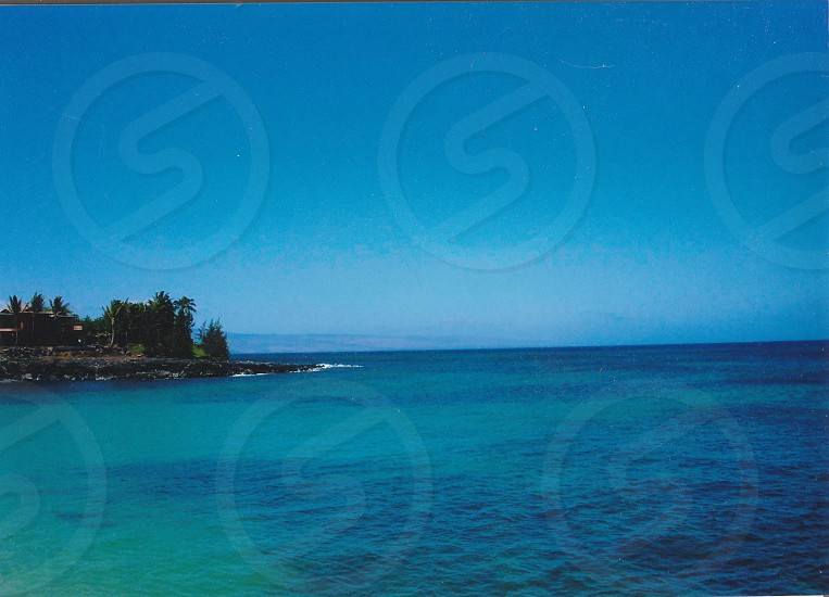 Maui Hawaii beautiful blue ocean  photo