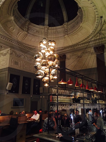 Chandelier at What's At Sixty Two Liverpool UK photo