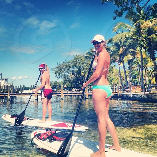 Paddle boarding Florida keys key largo Caribbean club photo