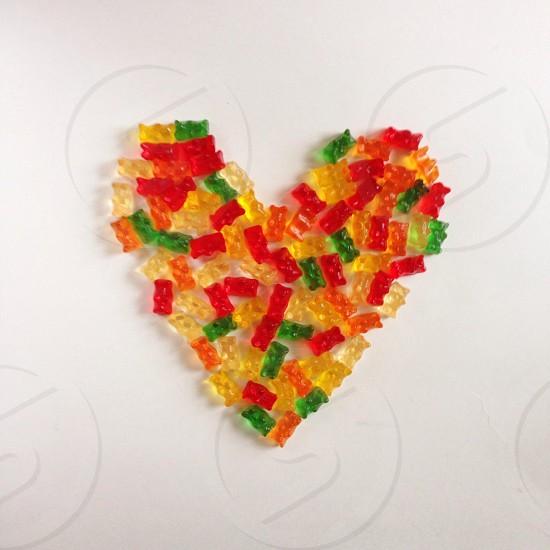 multicolor gummy bears photo