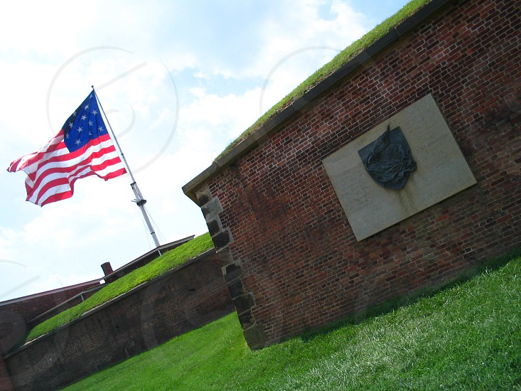 Fort McHenry in Baltimore MD known for being attacked during the War of 1812 and for the battle that inspired Francis Scott Key to write the Star Spangled Banner photo