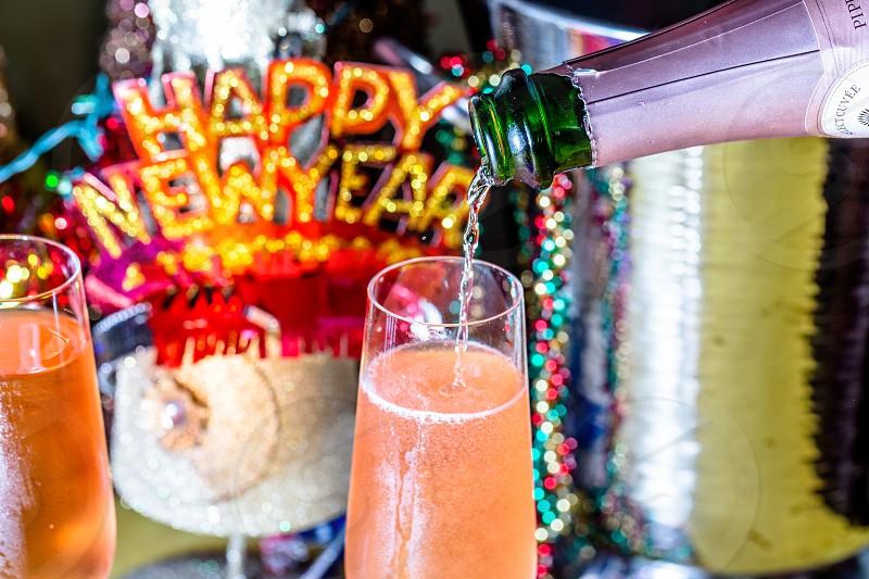Cheers to New Year photo