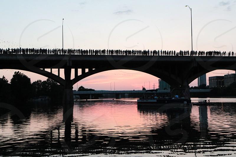 The Congress Bay bridge in Austin Texas photo