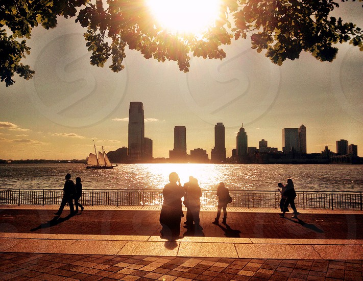 Sunny afternoon. Hudson River Park. NYC. photo