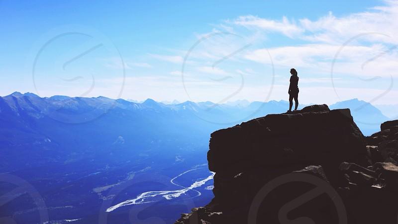 mountain peak view photo