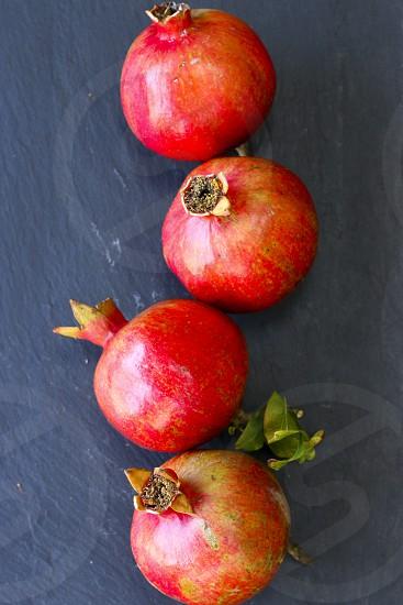 Pomegranates fruit red produce fresh photo