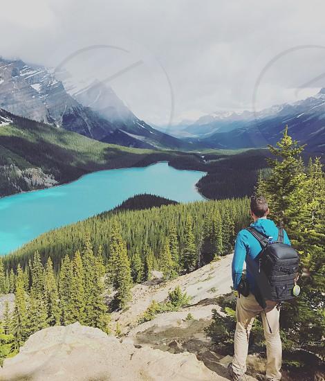 Lake jasper mountain canada hiking photo