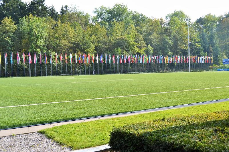 FIFA football field in Zurich  photo