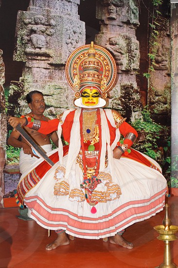 Traditional Kathakali Dance Show- Kerala photo