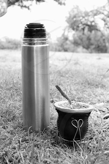 Argentine matte metal thermos photo