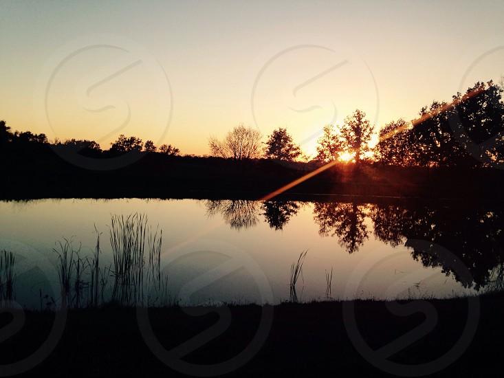 Pond at Sunset photo