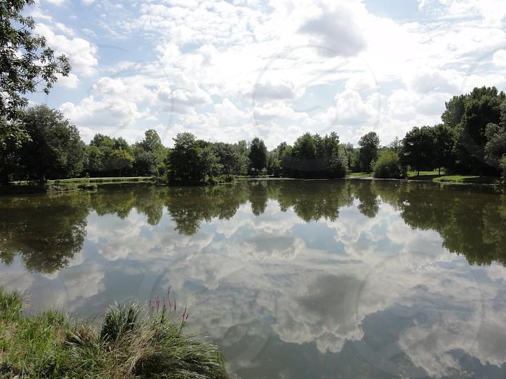 French lake reflections photo