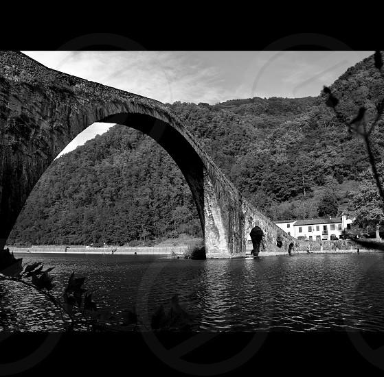 Tuscany Italy bagni di Lucca - Ponte Della Maddalena - ponte del diabolical photo