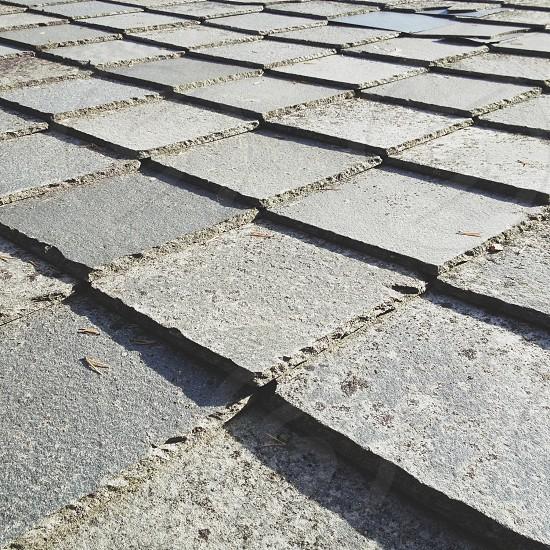 gray square cement photo